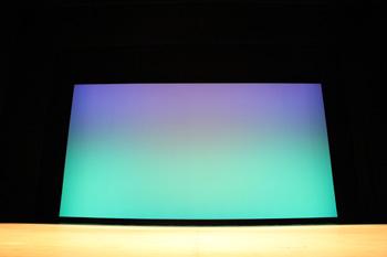 座席から見た舞台